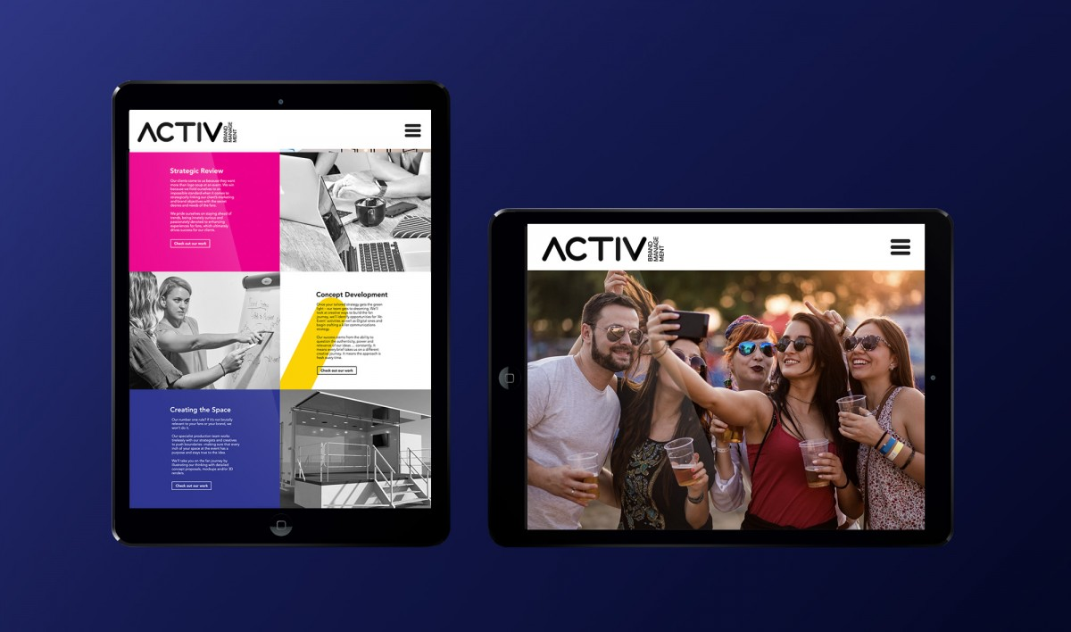 Website Design for Activ Brand Management