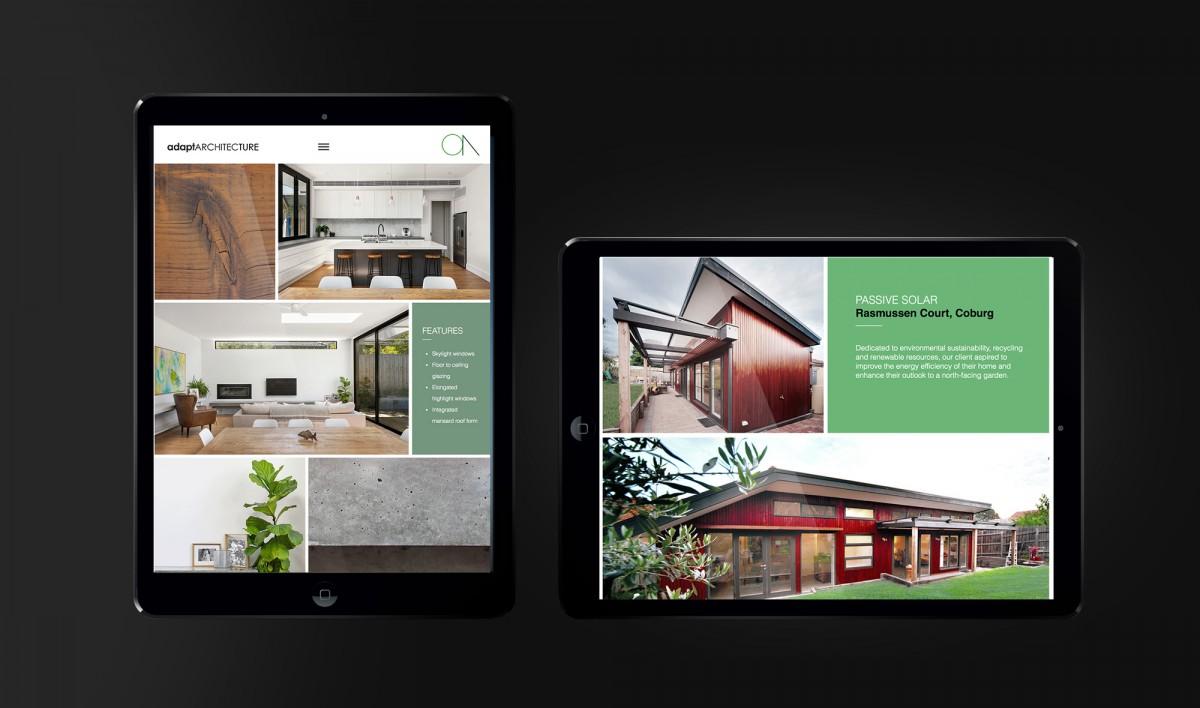 Website Design for Adapt Architecture