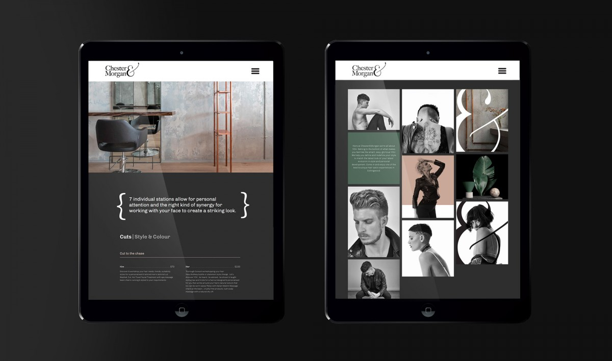 Website Design for Chester & Morgan