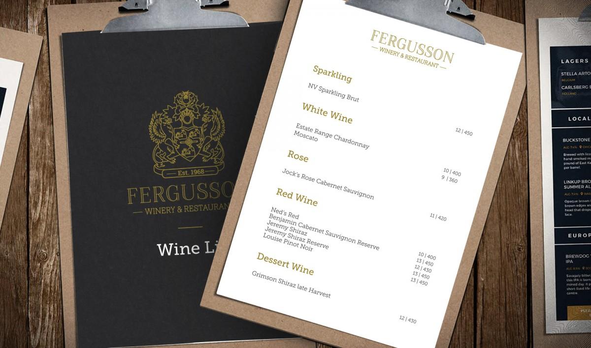 Brand Design for Fergusson Winery