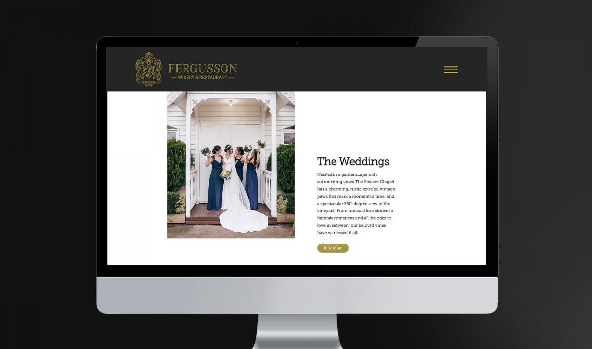 Website Design for Fergusson Winery