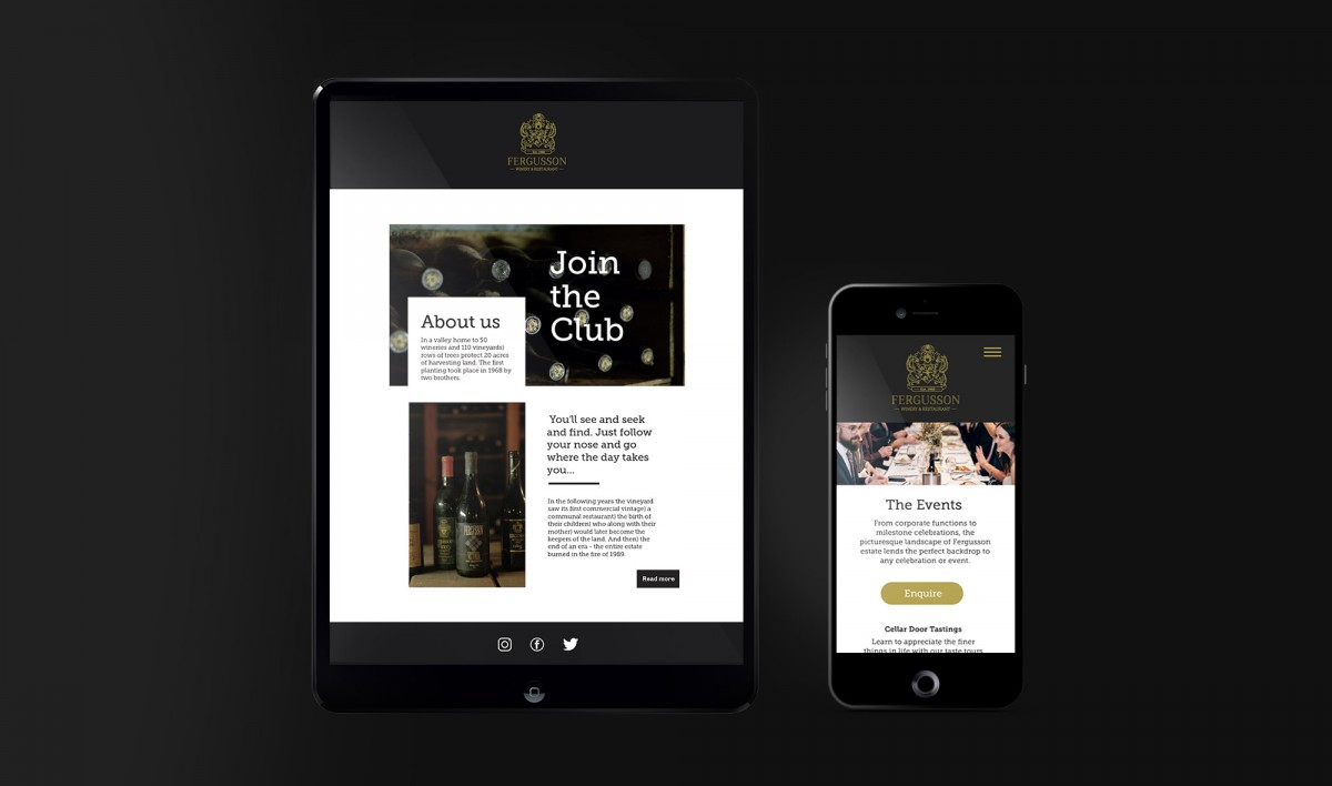 Digital Marketing for Fergusson Winery