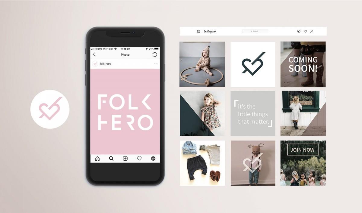 Social Media Styling for Folkhero
