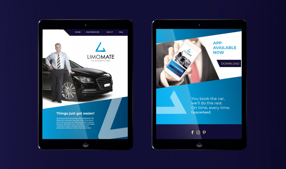 Digital Marketing Design for Limomate