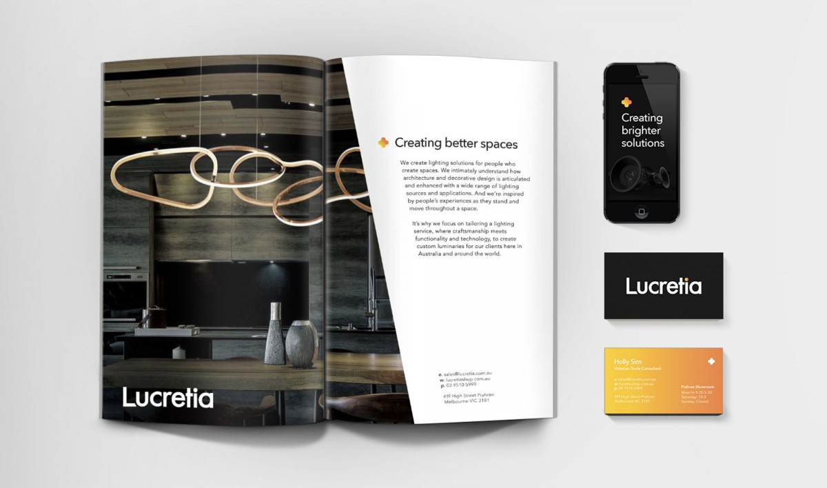 Publication Design for Lucretia Lighting