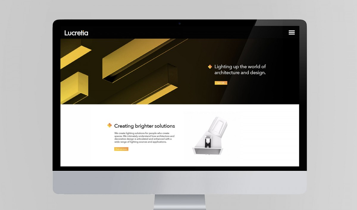 Website Design for Lucretia Lighting