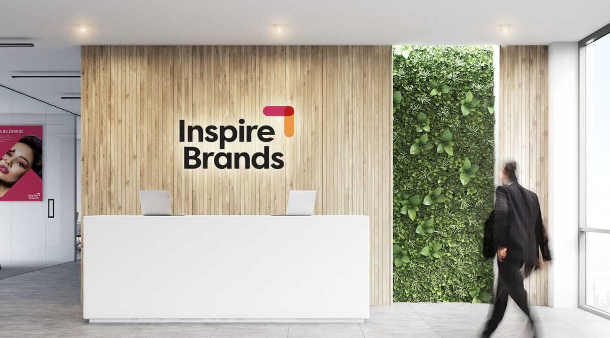 Brand Design for Inspire Brands - Reception signage